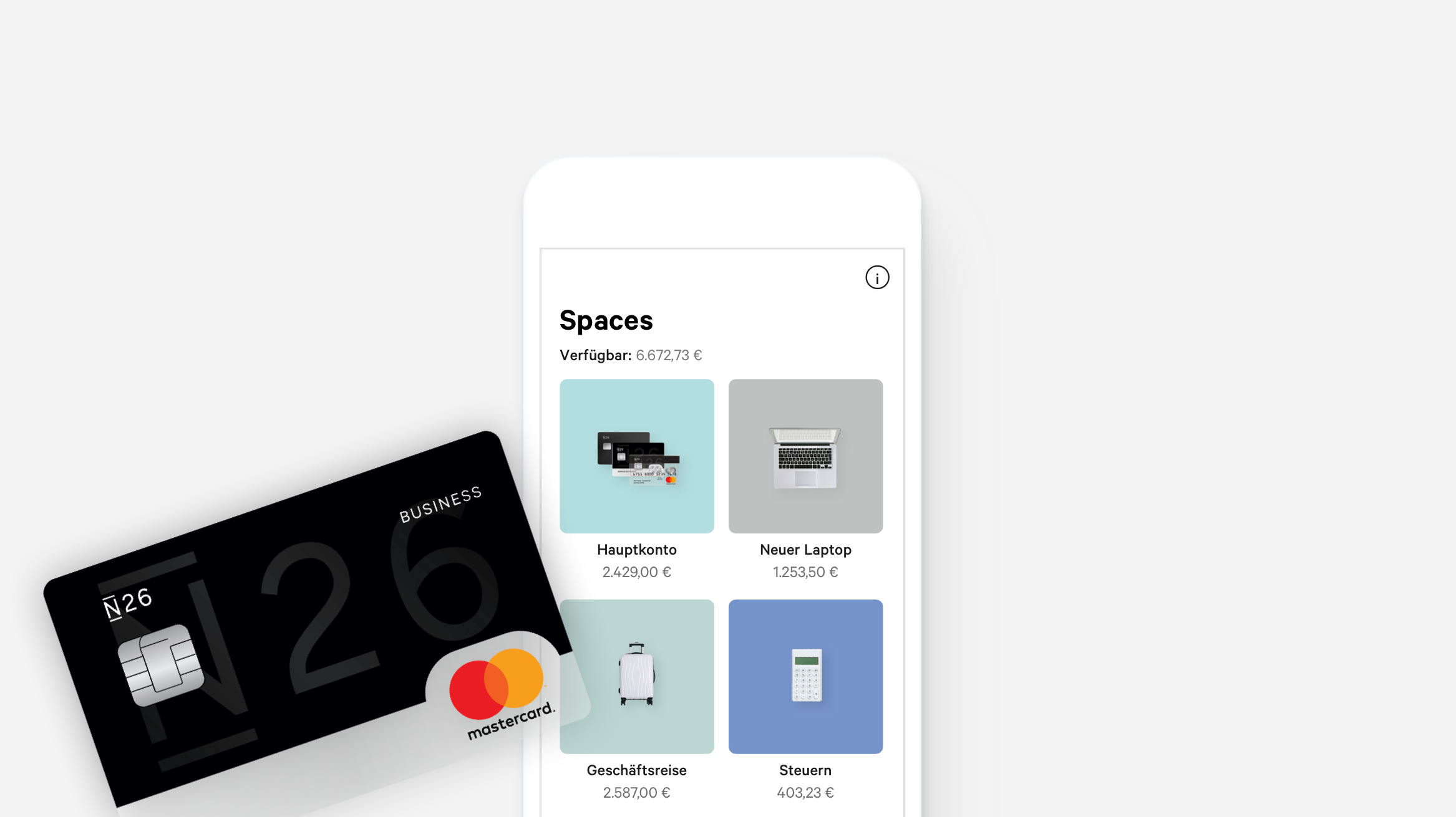 N26 Business Black spaces
