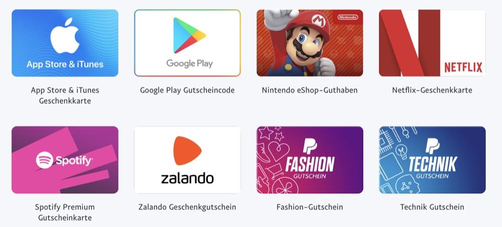 PayPal Gutscheine