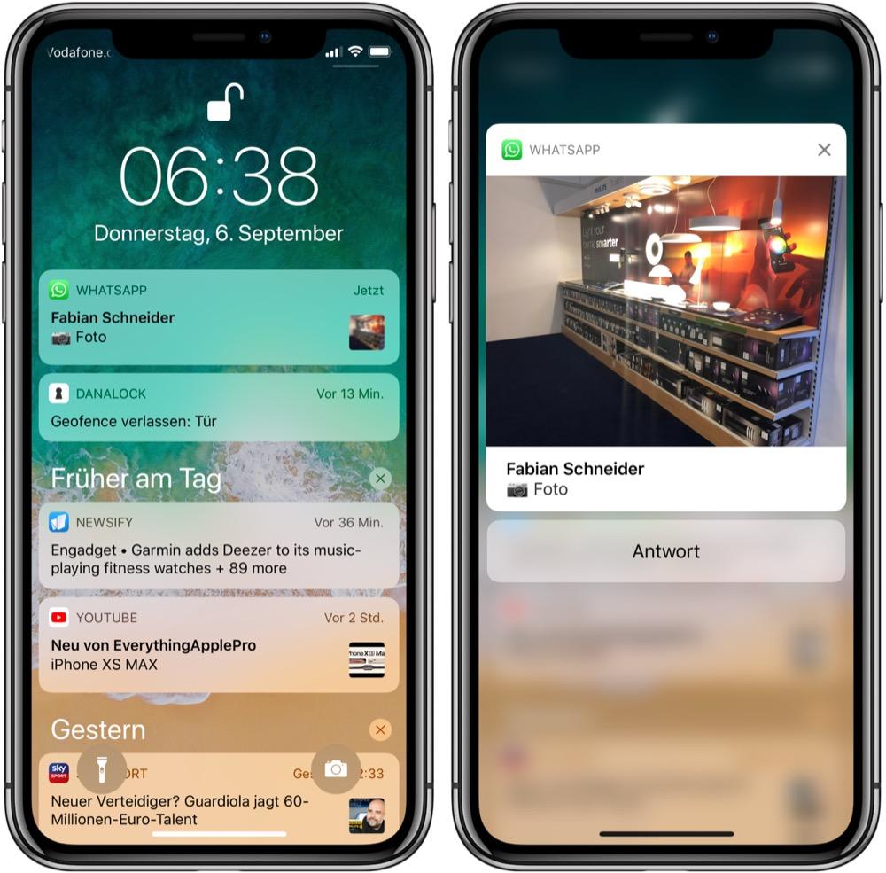 WhatsApp Push Mitteilung