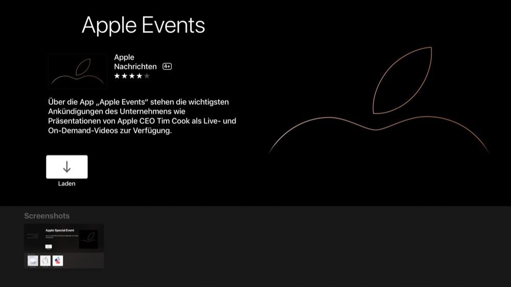 apple events tvos