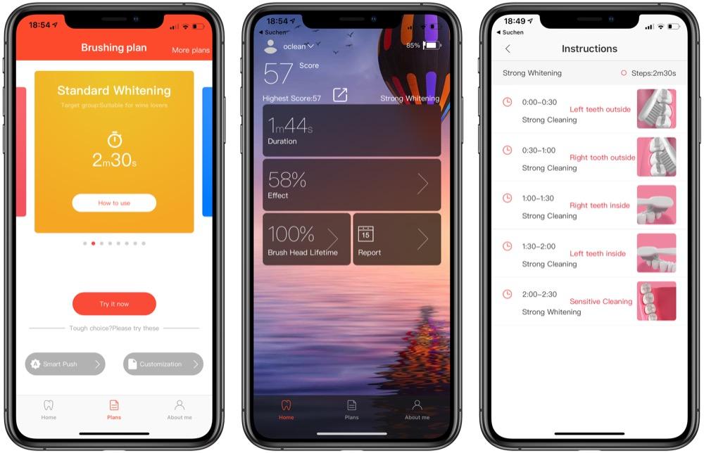 Oclean Air app
