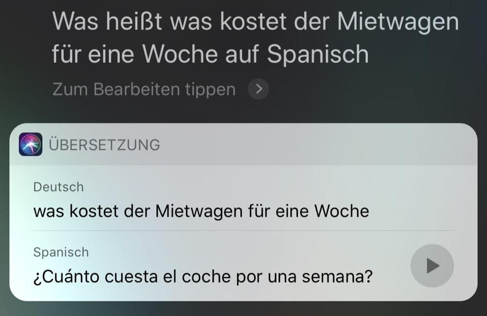 Siri Uebersetzung 1