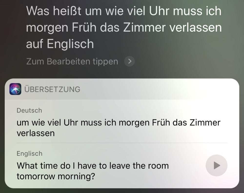 Siri Uebersetzung 2