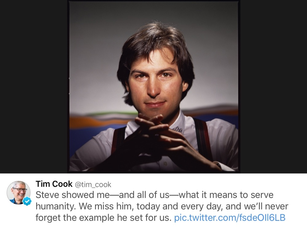 Steve Jobs Todestag Tim Cook Twitter