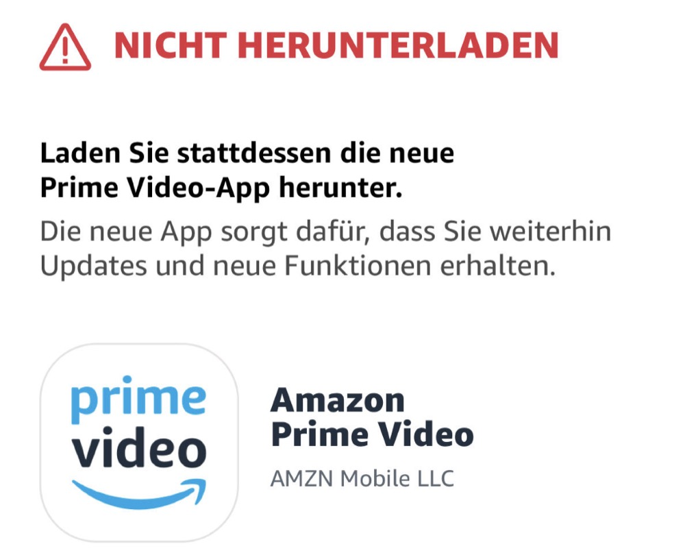 amazon prime video warnung