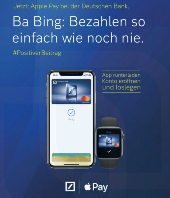 deutsche bank apple pay