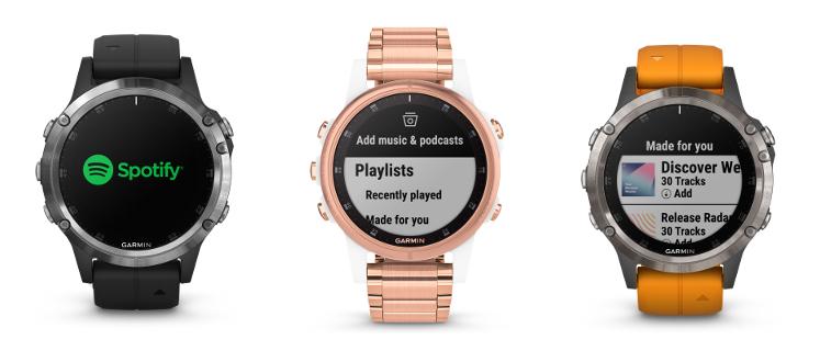 Musikstreaming: Spotify und Deezer für Garmin Fenix 5 Plus & Tidal