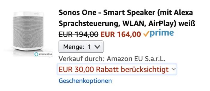 Sonos One Rabatt