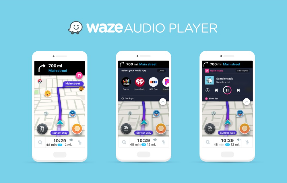 Waze Music Player