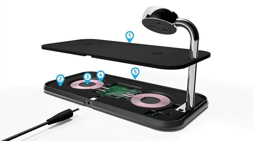 Zens Dual Watch Aluminium Wireless Charger Technik