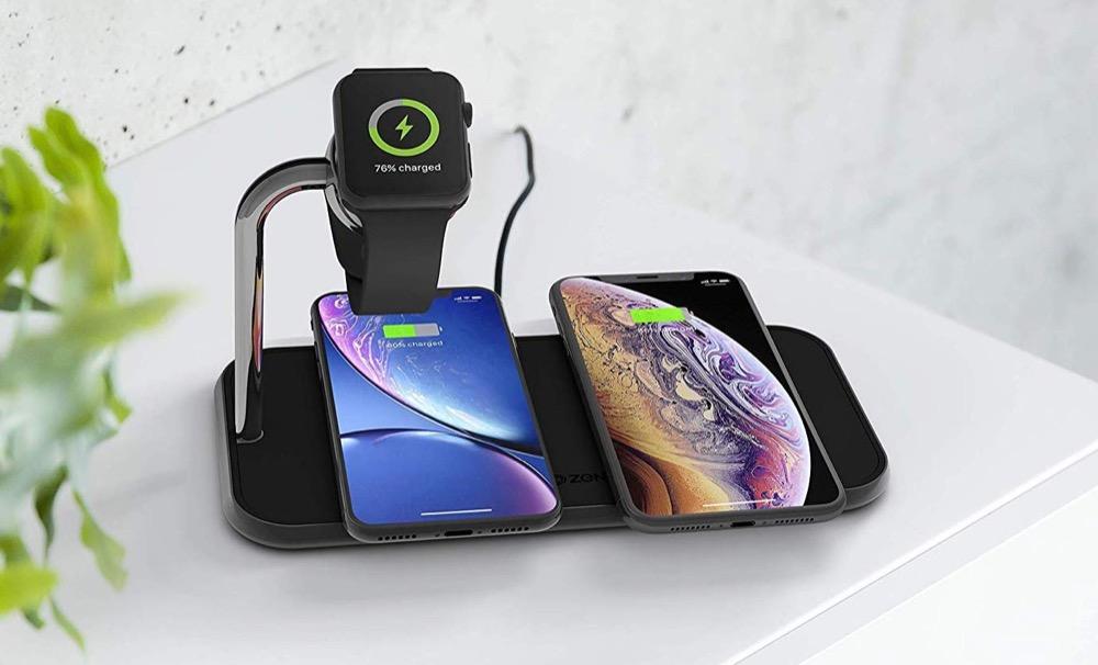Zens Dual Watch Aluminium Wireless Charger