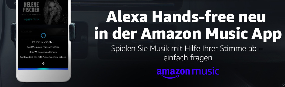 perfekt f rs auto amazon music bietet jetzt alexa hands. Black Bedroom Furniture Sets. Home Design Ideas