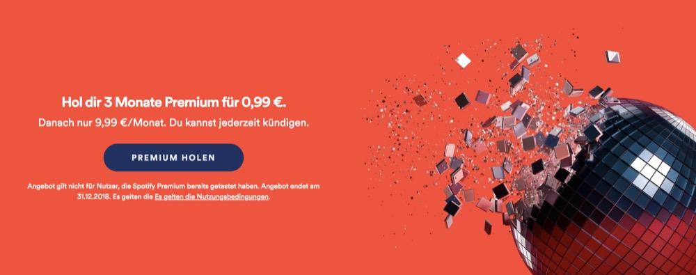 Musikstreaming Drei Monate Spotify Premium Für Nur 99 Cent