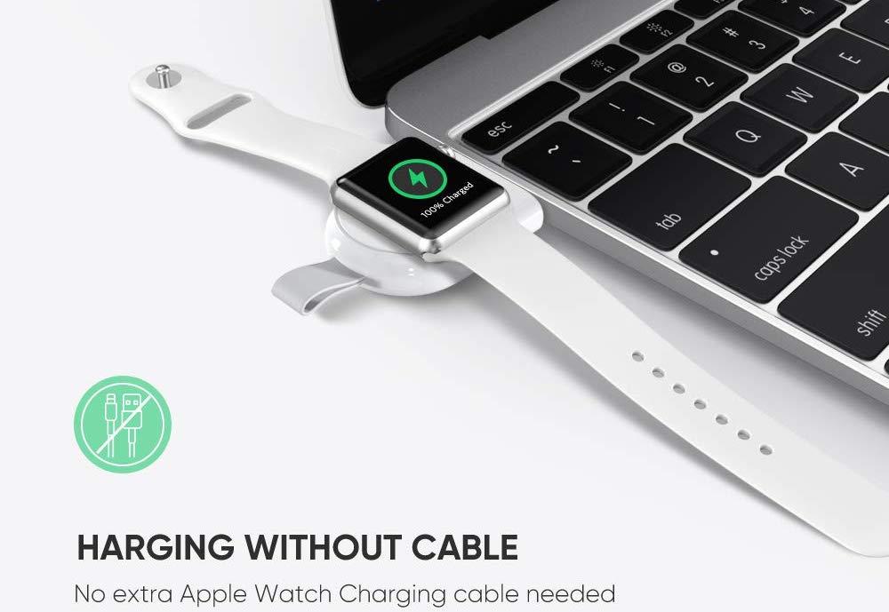 f r unterwegs kompaktes ugreen apple watch ladeger t f r. Black Bedroom Furniture Sets. Home Design Ideas
