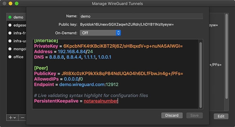WireGuard: Open Source-VPN-Tool ab sofort auch im Mac App