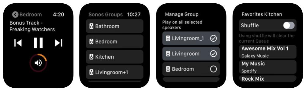 Lyd for Sonos mit Apple Watch Bildern