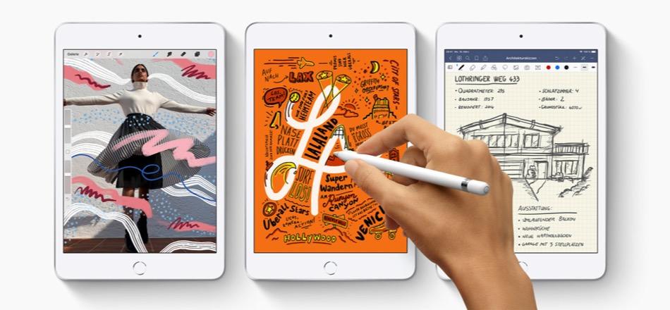 iPad mini 2019 mit Apple Pencil-Support