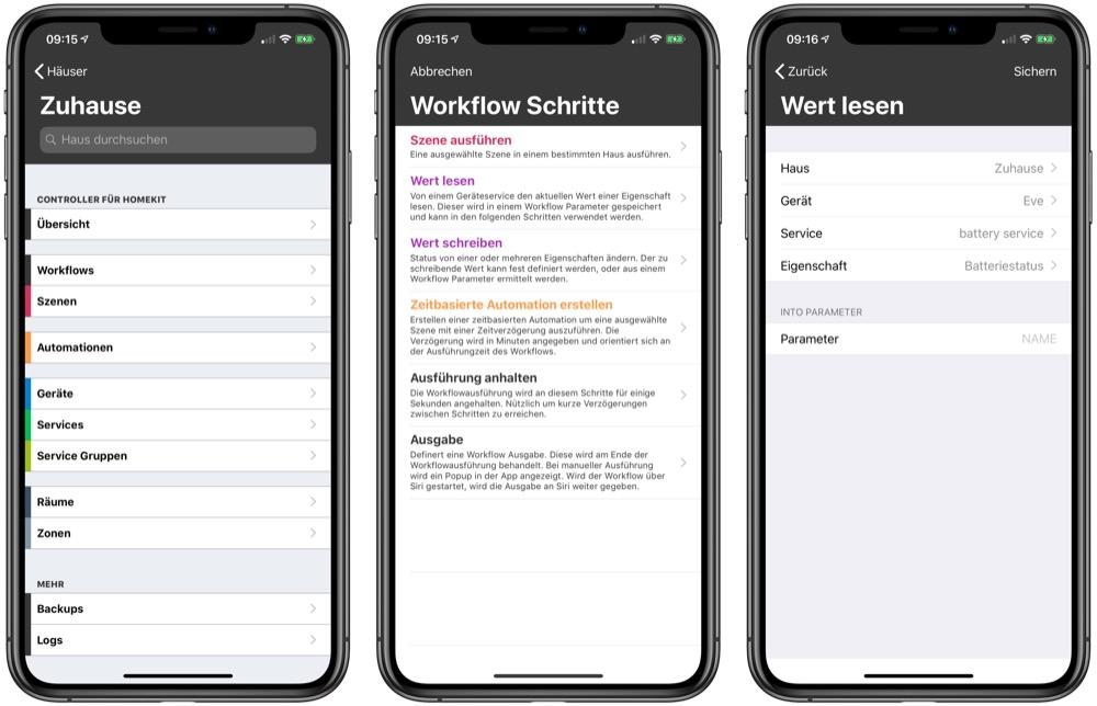 Controller für HomeKit zeigt neue Workflows