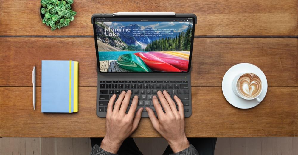 Logitech Slim Folio Pro mit Halterung für den Apple Pencil 2