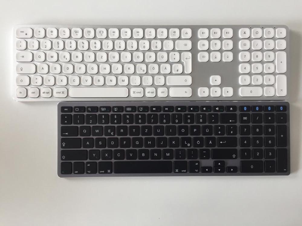 Satechi Slim Tastatur im Vergleich zur Satechi Tastatur