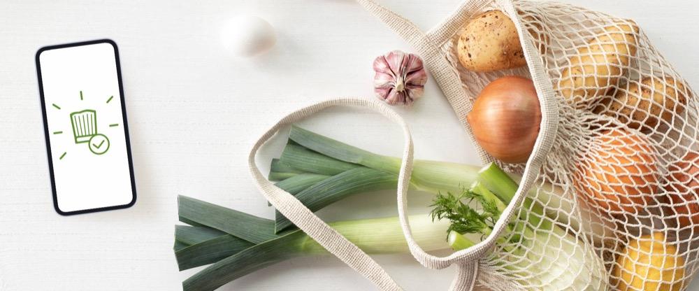 Gemüse mit iPhone-App