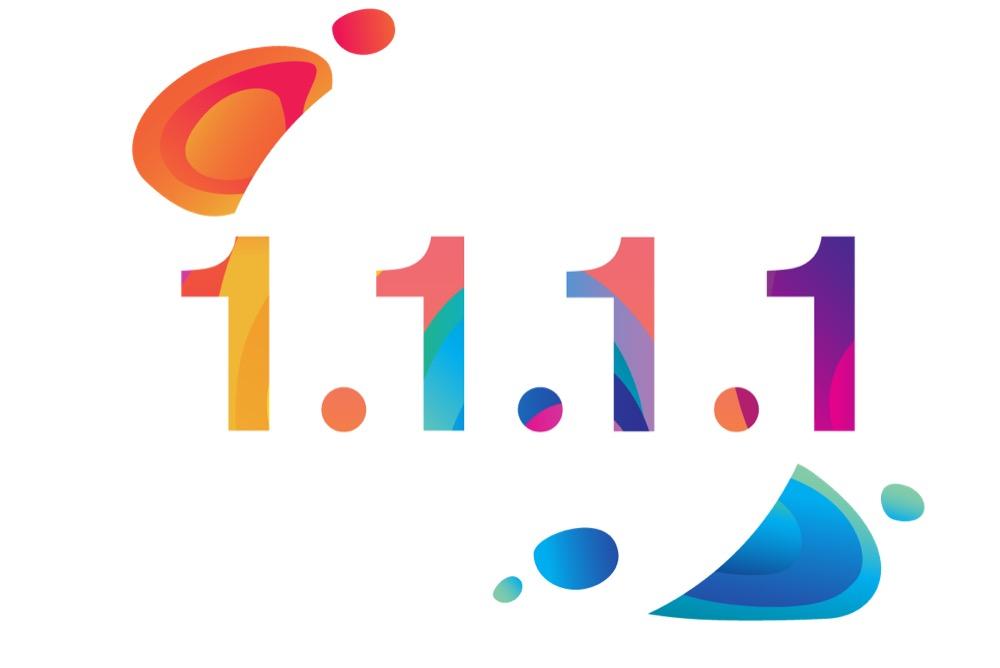 Cloudflare Logo mit 1.1.1.1