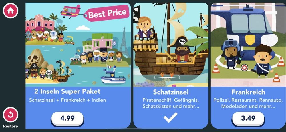 In-App-Store in Fiete World
