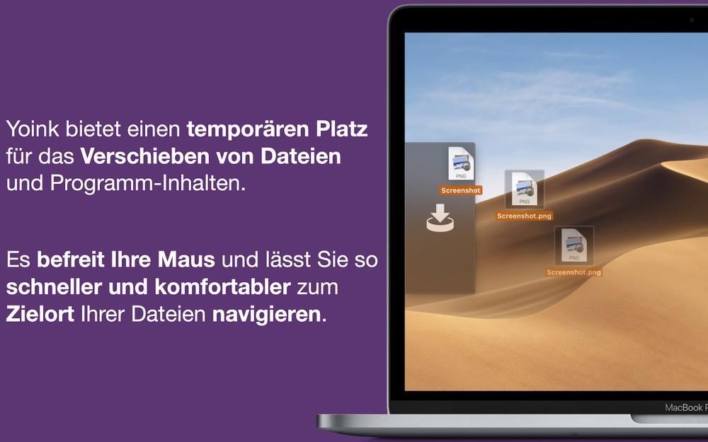 Dateien verschieben mit der Mac-App Yoink