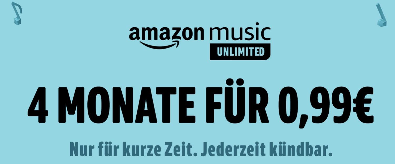 Für Neukunden: 4 Monate Amazon Music Unlimited für nur 99 Cent