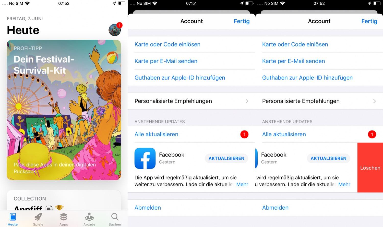 apps deinstallieren ipad