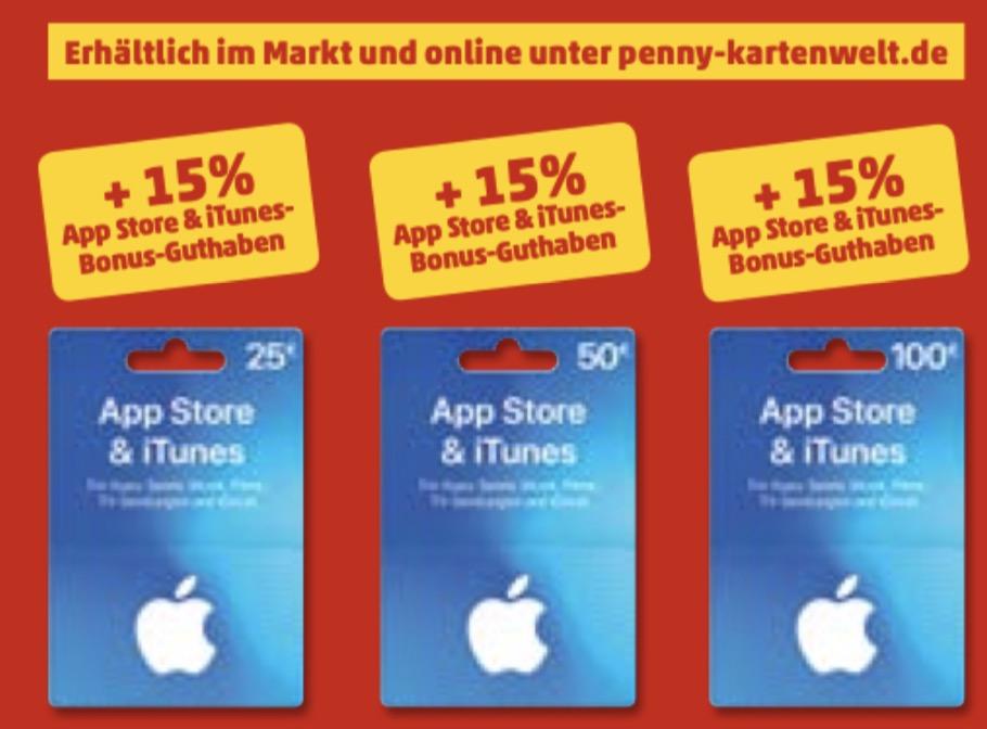 iTunes-Karten: 15 Prozent Bonus bei Penny
