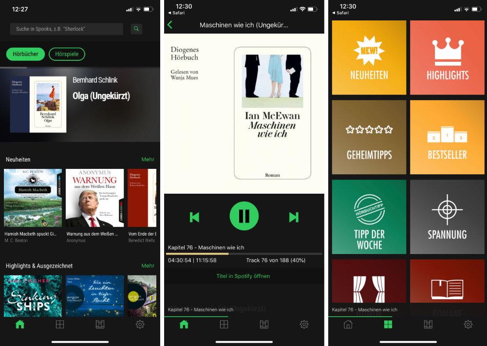 Spooks Horbuch Suche Ab Sofort Mit Integriertem Player Fur Spotify Inhalte Appgefahren De