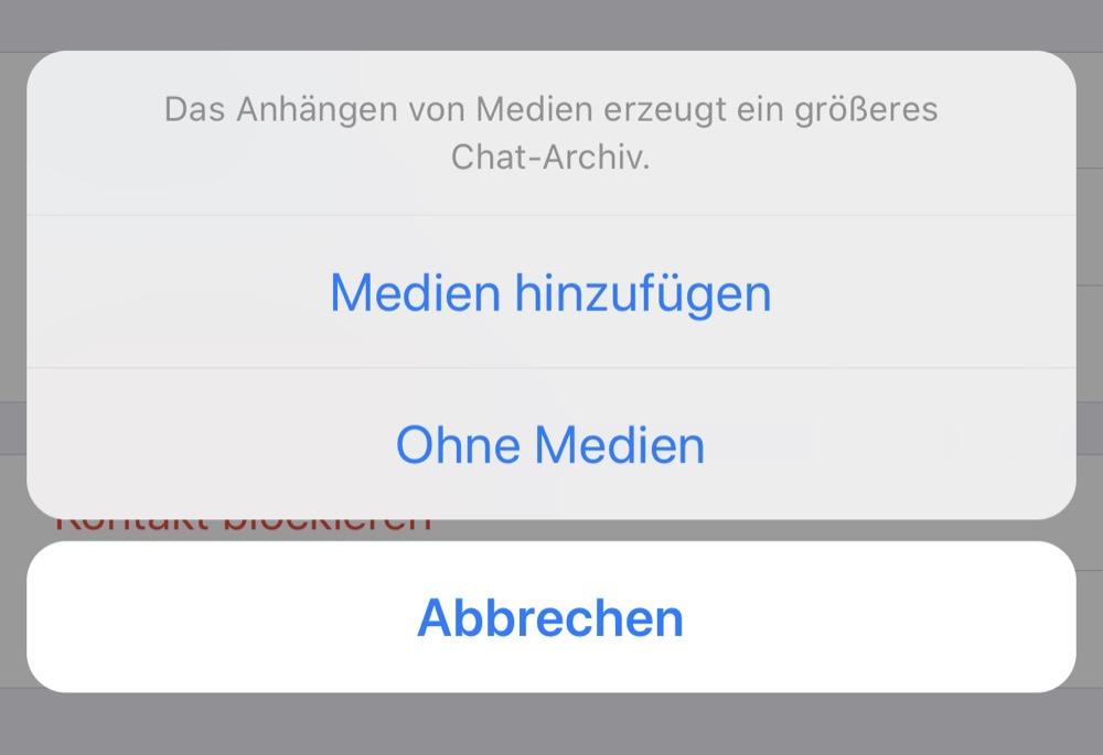 Whatsapp Chat Exportieren Fehlt