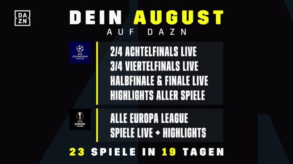 Dazn Champions League Spiele 2021